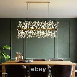 Crystal Chandelier Kitchen Island Éclairage 9 Lampe De Plafond Pendentif Moderne Léger