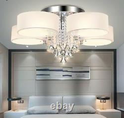 Crystal Dimmable Led Chandeliers Éclairage Anneau Acrylique Maison Plafond Fixations Nouveau