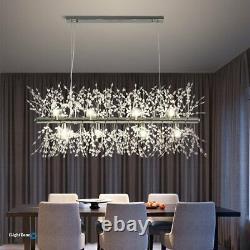 Crystal Lighting Kitchen Island Chandelier 9 Lumière Pendentif Lampe De Plafond Moderne