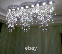 Crystal Restaurant Pendentif Luminaires Led Chandelier Rain Drop Plafond Lampe