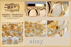 D50cm Elegant Modern Crystal Ceiling Fixture Lampes Chandelier Chambre À Coucher Éclairage