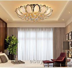 D50cm Élégant Moderne Cristal Plafonnier Plafonnier Lampes Lumière De Chambre Chandelier