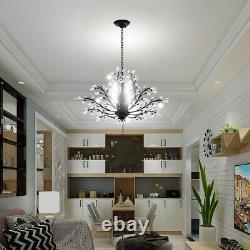 Décoration En Cristal Lampe Pendentif Chandelier Moderne 8 Lumières E14 Plafond Lumineux