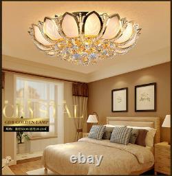 Élégant Moderne Led K9 Cristal Plafonnier Plafonnier Lampes Lumière De Chambre Chandelier