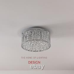 Emilia Crystal Drum Flush Plafond Light Chrome Rrp £175