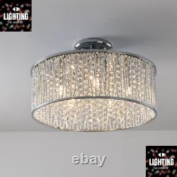 Emilia Design Grand Cristal Drum Plafond À Chasse D'eau Chrome Léger Prix De Vente Conseillé £295