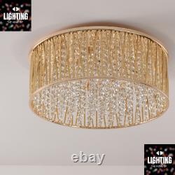 Emilia Design Large Crystal Drum Flush Ceiling Light, Or Rrp £295