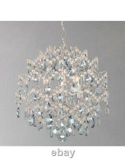 Exdisplay John Lewis Baroque Cristal Chandelier Plafond Lumière Clair/bleu Rp £350