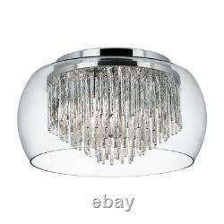 Feux De Recherche 4 Lumières Clair D'ombre En Verre Flush Plafond Montage De Chandelier