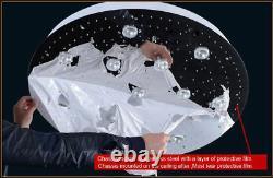 Forme Spirale Crystal Chandelier Flush Mount Chandelier Plafond Luminaire #67