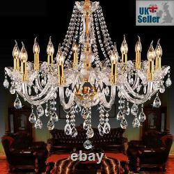 Geniune K9 Crystal Chandelier Clear Golden 2/5/6/7/8/10/15 Armes Lampe Au Sol