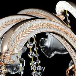 Geniune K9 Crystal Chandelier Golden 6 Bras En Métal Pendentif Plafonnier Lampe E14 Ampoules