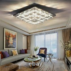 Grand Salon Led Plafonnier Lumière 70cm 3 Niveaux Cristal Pendentif Lampe Avec Télécommande