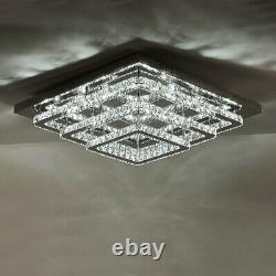 Grande Lumière Claire De Plafond De Lustre De Cristal 70cm Lampe De Pendentif De Squar De Salle De Vie