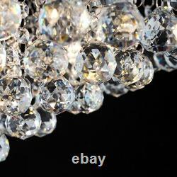 Grande Véritable K9 Verre Cristal Bijoux Goutte À Goutte Plafond De Plafond Adaptant La Lumière Élégante