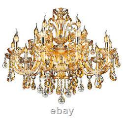 Ile 15 Ampoule Moderne Cristal Lustre Mural Plafonnier Lampe Pendentif