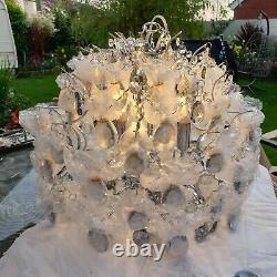John Lewis Baroque Crystal Chandelier Plafond Lumière Clair/bleu