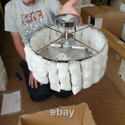John Lewis Dar Errol Cristal Semi Flush Plafond Lumière Chrome