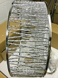 John Lewis Emilia Large Crystal Drum Flush Plafond Lumière Moderne Ombre De Lampe Nouveau