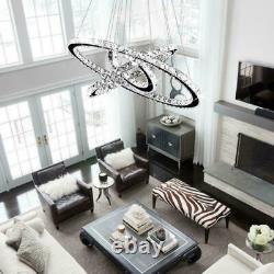 Lampe De Plafond Dimmable Moderne De Cristal De Led 2/3 D'anneau