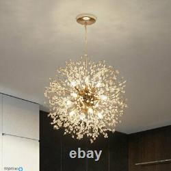 Lampe De Plafond En Cristal Moderne Chandelier 9 Lumière Pendentif Éclairage Kitchen Island