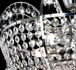 Lampe De Plafond Lustre En Cristal Noble Illumination Classique Pour E14 Led