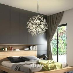 Lampe Pendentif Crystal Chandelier Feu D'artifice Moderne 9 Lumière Sputnik Plafonnier