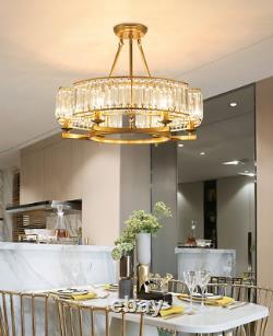 Lampe Pendentif Moderne 6-lights Gold Crystal Chandelier Luxury Dinning Room Ceiling Modern Pendant