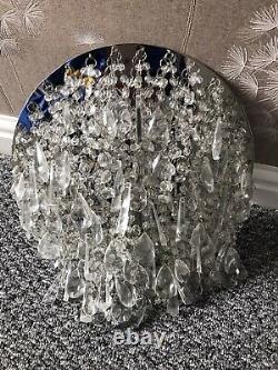 Laura Ashleyclear Jewel Cluster Chandelier Plafond Lumière. État Immaculé