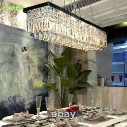 Led Boule De Cristal Pendentif Lumière Salle À Manger Chandelier Plafond Lampe100cm