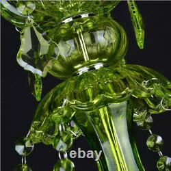 Led Cristal Vert Chandelier Salon Plafond Lumière Fixation Pendentif Lampe