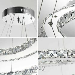 Led Crystal Chandelier Plafonnier Lumière Pendentif Lampe 18avec48avec144w Moderne Réglable