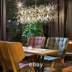 Led Crystal Chandeliers Firework Suspension Plafond Luminaire Moderne Gold