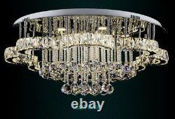 Led K9 Lumière De Plafond En Cristal Vivant Lampe À Incandescence Lustre Éclairage À Distance