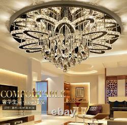 Led Lampe En Cristal De Luxe Plafond Salle De Séjour Lumière Chambre Ronde Luminaire Nouveau