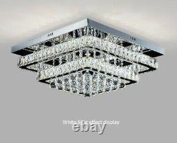 Led Moderne Clair Cristal Plafond Lumière Pendentif Lampe De Luxe Lustre Éclairage