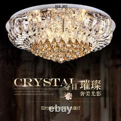 Led Moderne K9 Clair Cristal Plafond Pendentif Lampe Lobby Chandelier Éclairage Nouveau