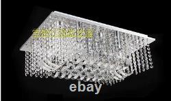 Led Moderne K9 Clair Cristal Plafonnier Lampe Pendentif Lampe Chandelier Éclairage