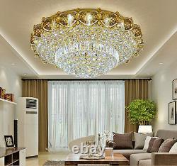 Led Télécommande K9 Cristal Plafond Lumière Chandeliers Lampes D'éclairage 6736