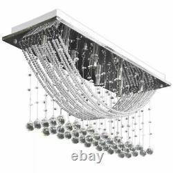 Lumières De Plafond En Cristal Moderne Chandeliers Lampe Cuisine Salon 8xg9 Luxe
