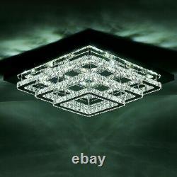 Lumières De Plafond Led Modernes Crystal Square Rond Chandeliers Aisle Hallway Light
