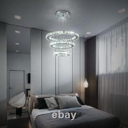 Lustre Blanc De Cristal De Led 2/3 Lampe Lumineuse De Pendentif De Plafond De Conception D'anneau