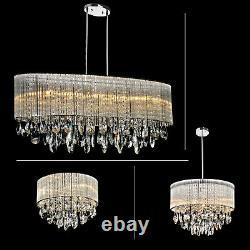 Lustre De Luxe Moderne G9 Led Crystal Droplet Ceiling Light Elegant Fixtures