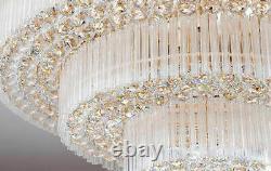 Lustre De Plafond En Cristal De Luxe À Led De Style Cour Européenne Lustre D'éclairage