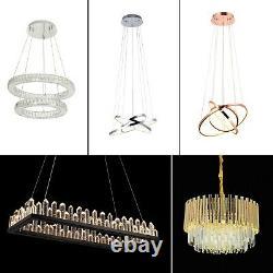 Lustre En Cristal De Led Moderne Lumières Suspendues Circulaires De Plafond Pendant Le R-u
