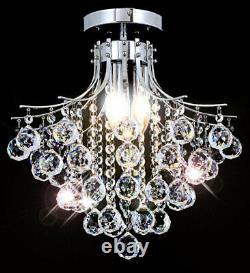 Lustre Moderne Cristal Lampe De Plafond Éclairage Pendentif Ø40 Rista-l 3x E14