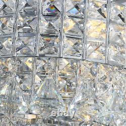 Luxury Crystal 52 Pouces Ventilateur De Plafond Lumière 5 Lames Chandelier Lampe Télécommande