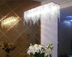 Luxury Crystal Chandelier Plafond Lumières, Rectangle Moderne Raindrop Élégant
