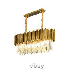 Luxury Gold Modern Crystal Large Ovale Chandelier Light Pendentif Lampe De Plafond
