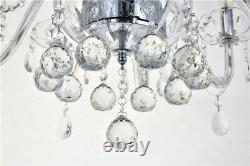 Marie Therese 10-light Clear Crystal Glass Ceiling Light Pendentif Lampe Lustre